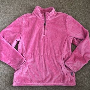 Pink Cozy North Face Half ZIP Sweatshirt Large 12
